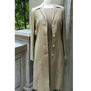 Dolce & Gabbana Dress & Topper Coat Suit